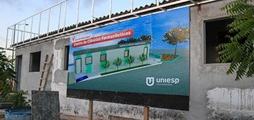 Centro de Ciências Farmacêuticas UNIESP está em construção