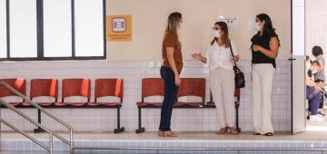 CIS recebe visita técnica da coordenadora de fisio do Hospital Napoleão Laureano