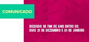COMUNICADO: Uniesp entra em recesso de fim de ano a partir de sábado (21)