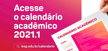 Divulgado o Calendário Acadêmico do semestre 2021.1
