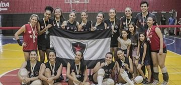 Time de vôlei feminino IESP é bicampeão universitário da Paraíba. Masculino é vice